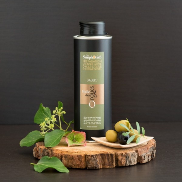Huile d'olive Basilic 250ml