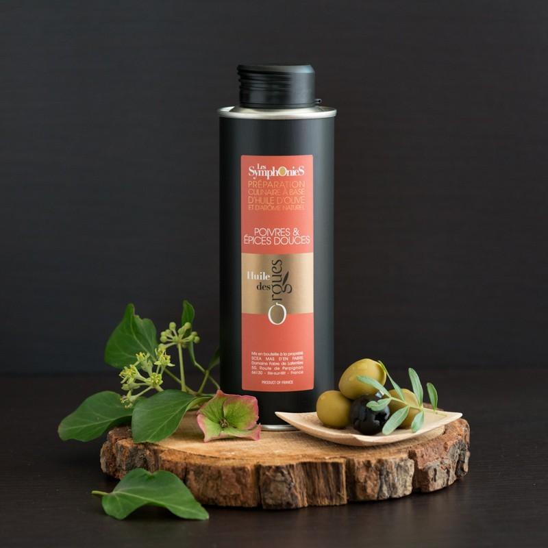 Huile d'olive Poivres & Épices douces 250ml
