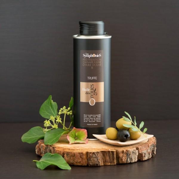 Huile d'olive Truffe avec des lamelles de truffe 250ml