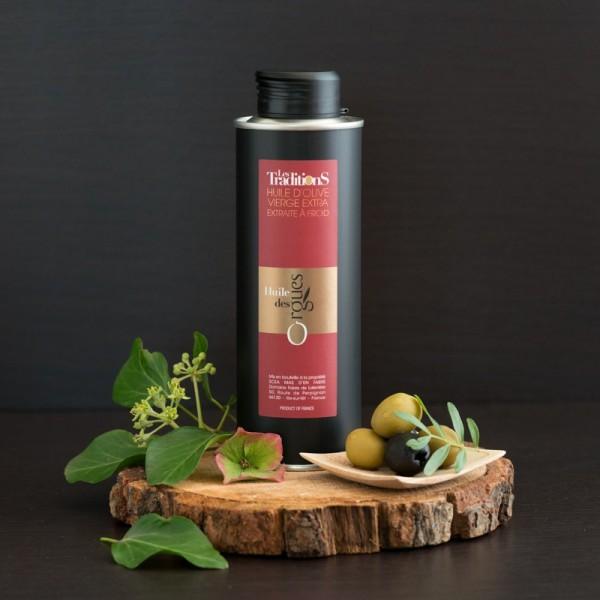 Huile d'olive cru assemblage type AOP Roussillon 250ml