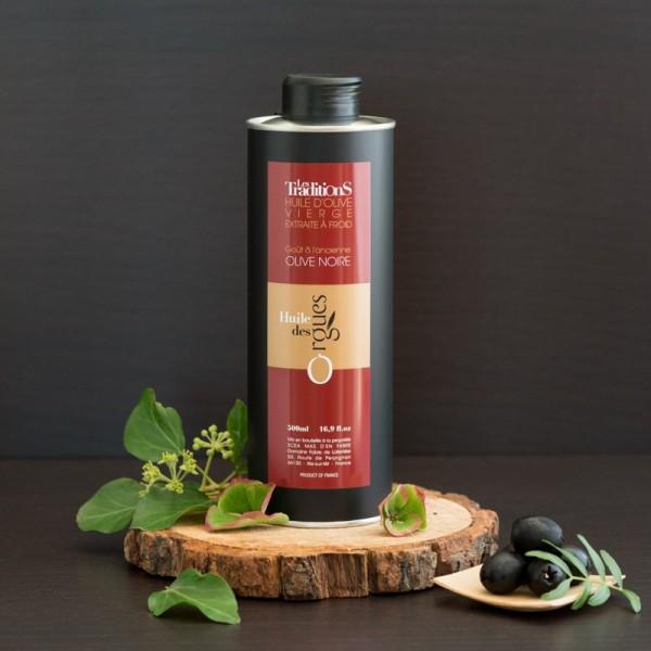 Huile d'olive Olive Noire goût à l'ancienne 500ml