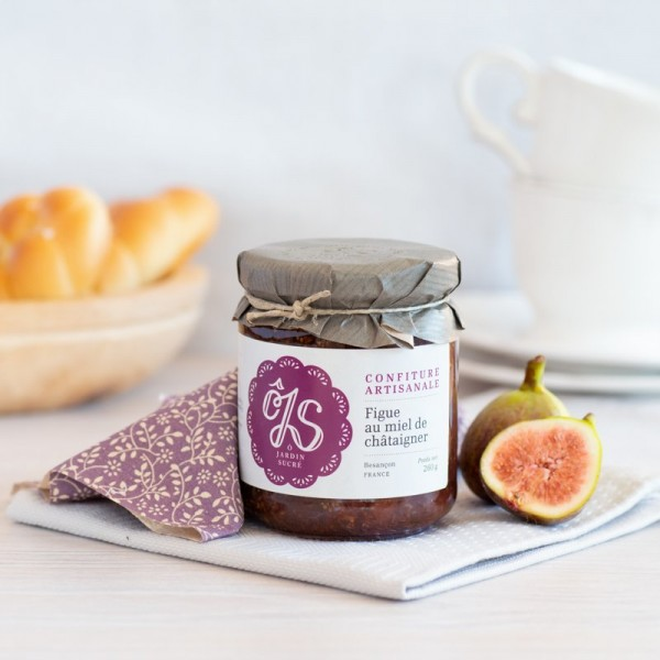 Fig and chestnut honey jam