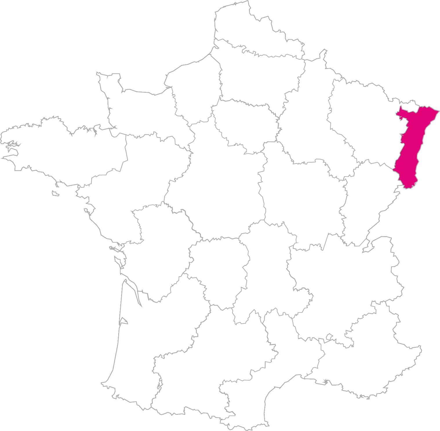 Carte France Région Alsace