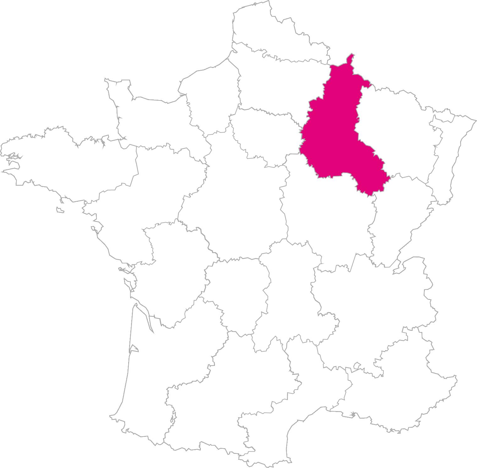 Carte France Région Champagne-Ardenne