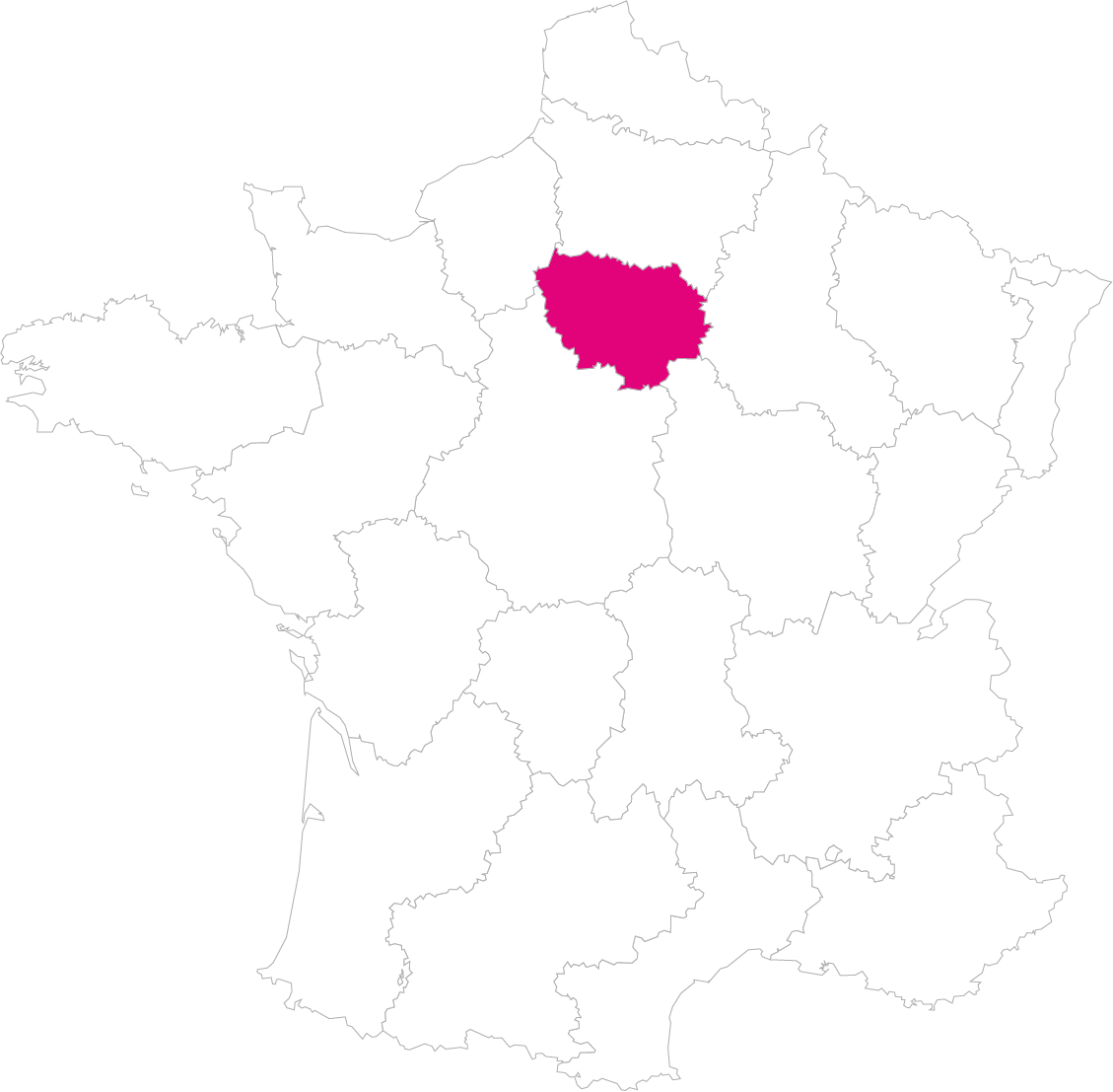 Carte France Région Ile-de-France