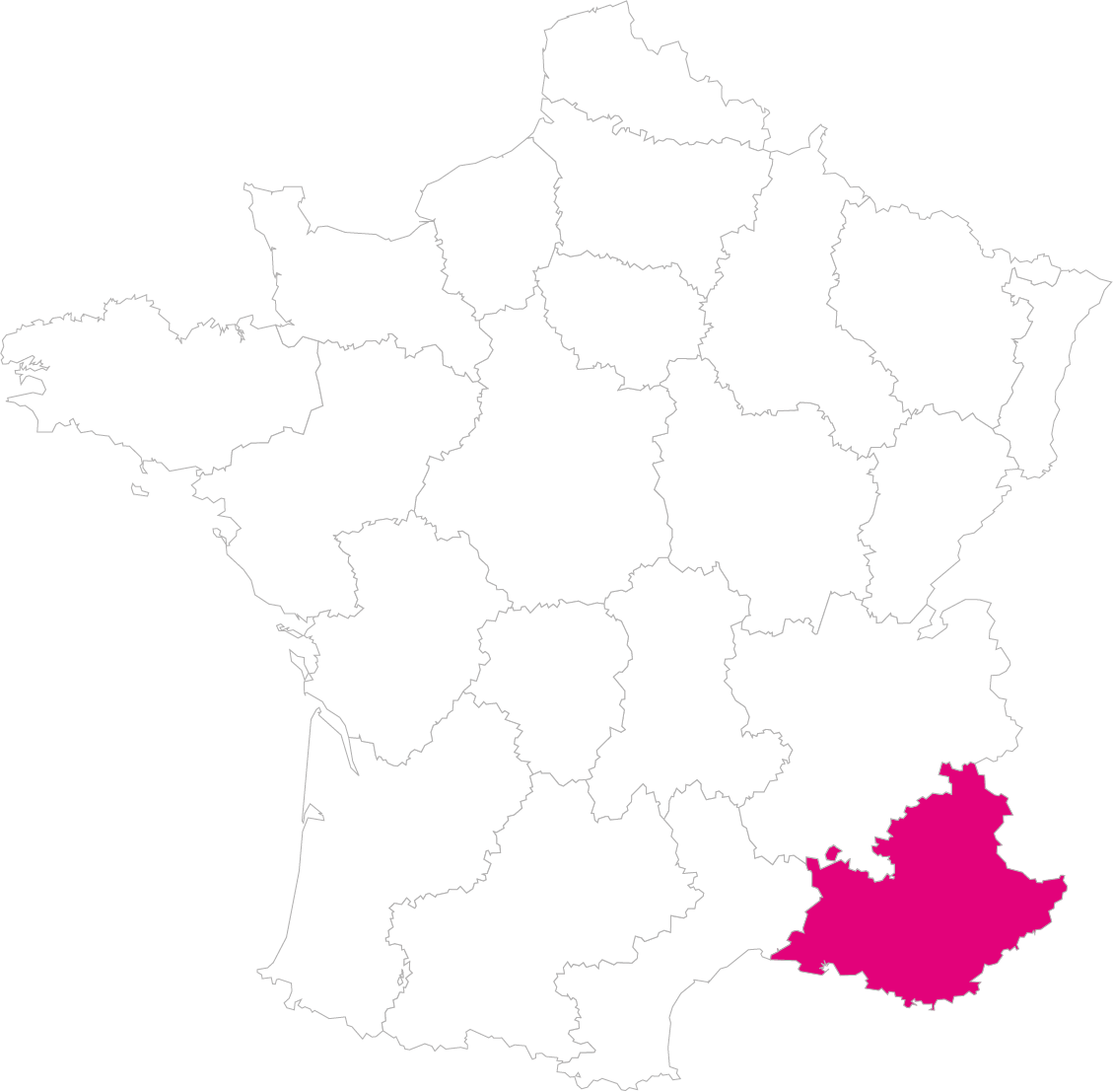 Carte France Région PACA